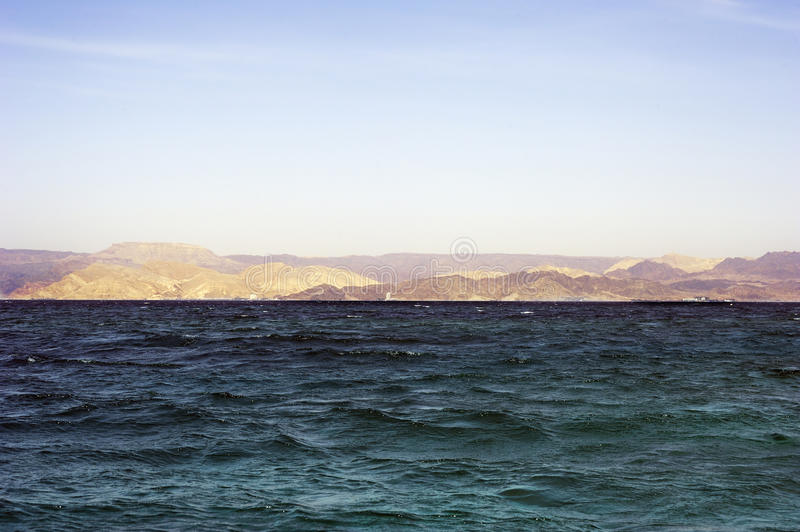 Israel - Egypt Border In The Aqaba Gulf Stock Images