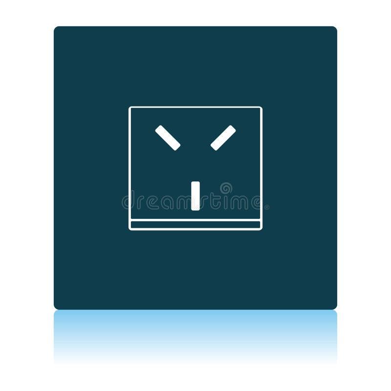 Israel Electrical Socket Icon illustration libre de droits