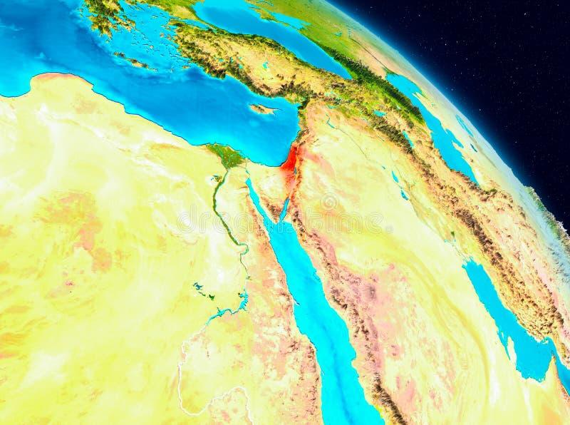 Israel en la tierra ilustración del vector