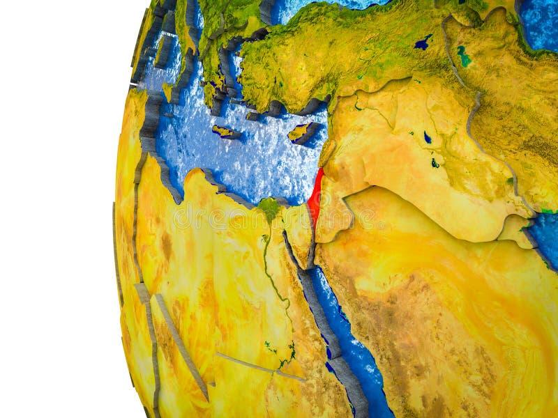 Israel en la tierra 3D ilustración del vector