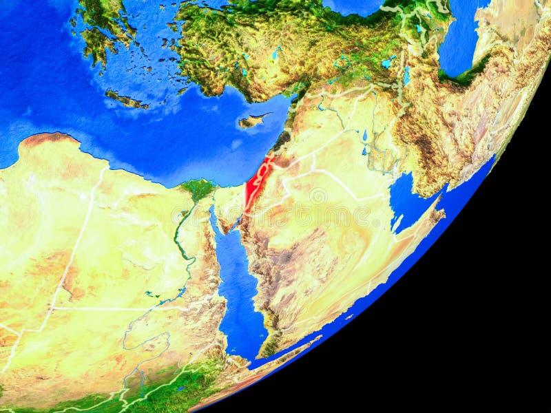 Israel en la tierra del espacio ilustración del vector