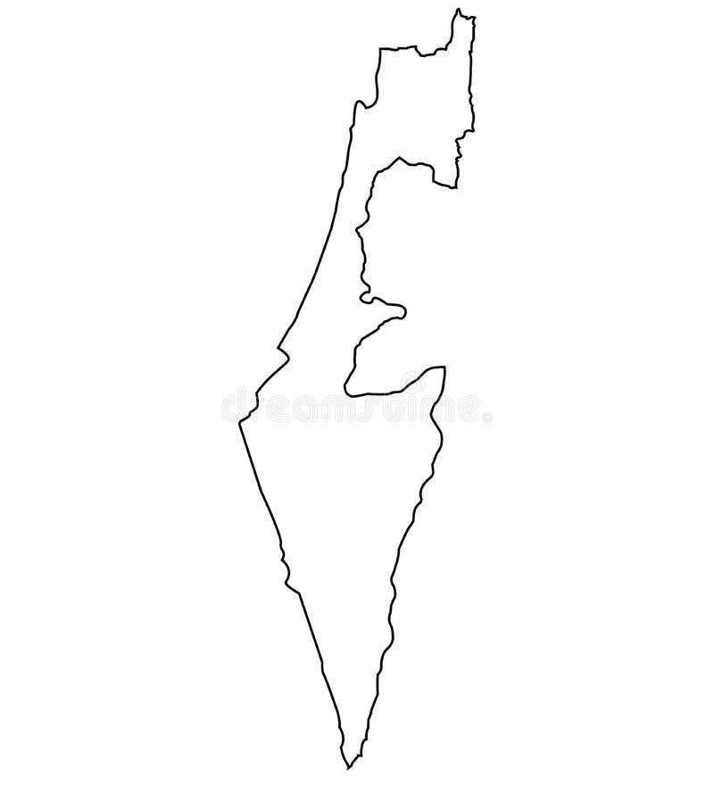 Israel-Entwurfskarte lizenzfreie abbildung