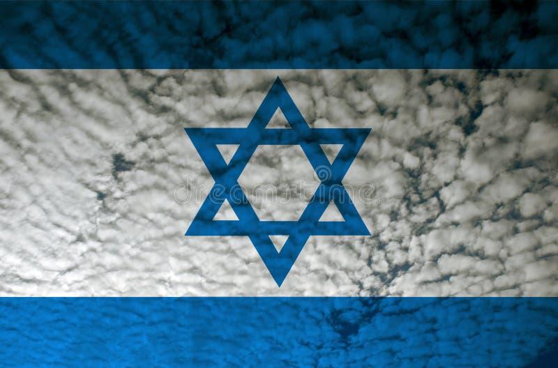 Israel flag stock illustration