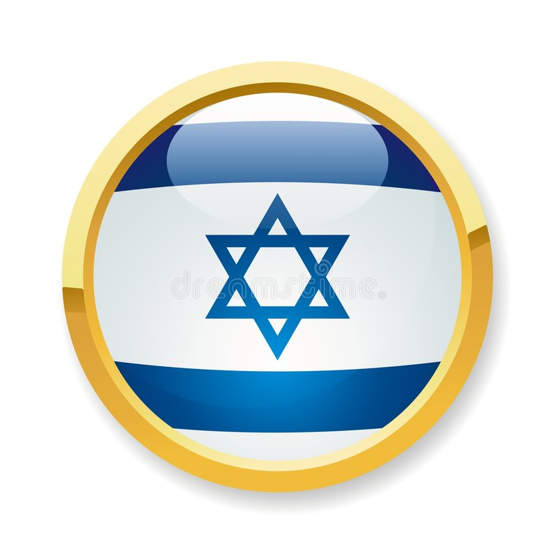 Israel flag button. A fully scalable vector illustration of Israel flag button royalty free illustration