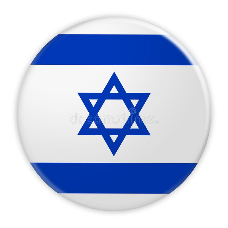 Israel Flag Button, crachá do conceito da notícia ilustração do vetor