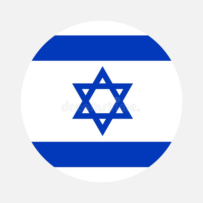 Israel flag circle. Vector image and icon royalty free illustration
