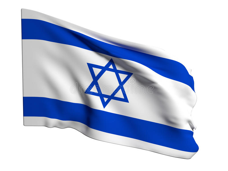 Israel flag. 3d rendering of an Israel flag stock illustration