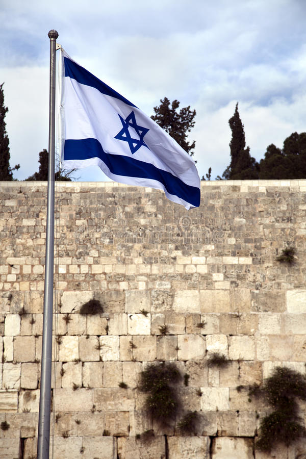 Download Israel Flag & The Wailing Wall Stock Photo - Image of culture, east: 29760814