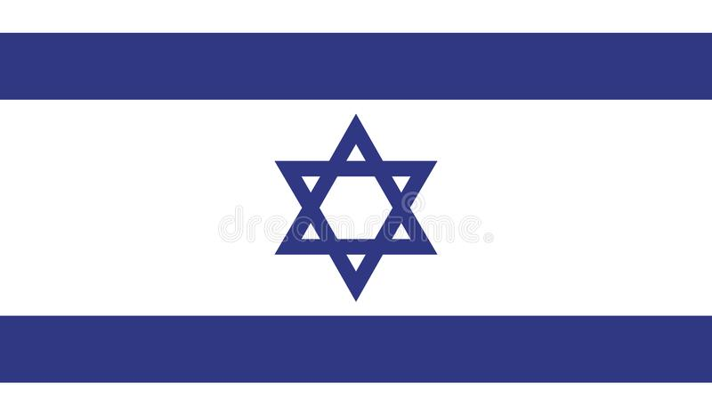 Israel flag image. For any design in simple style royalty free illustration
