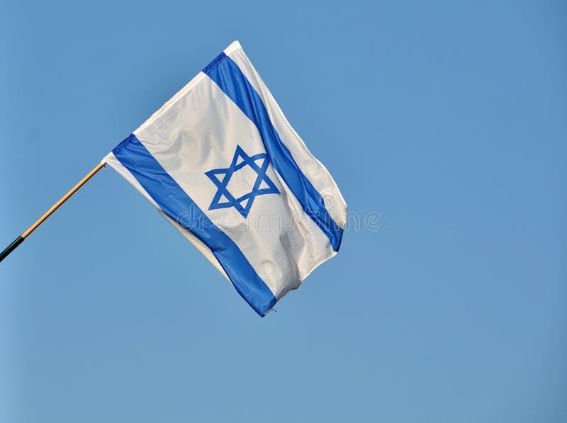 Israel Flag le Jour de la Déclaration d'Indépendance photo stock