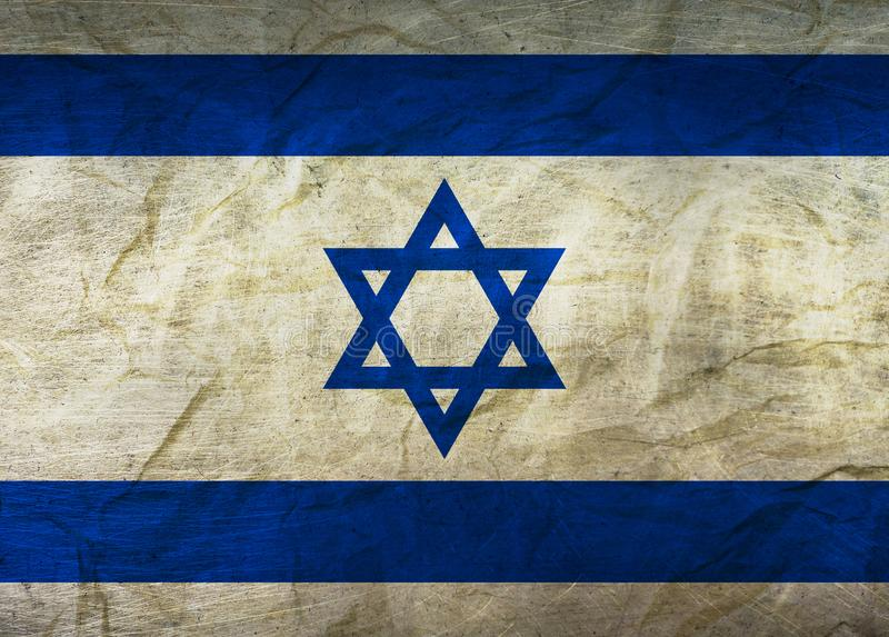 Israel Flag on Paper royalty free illustration