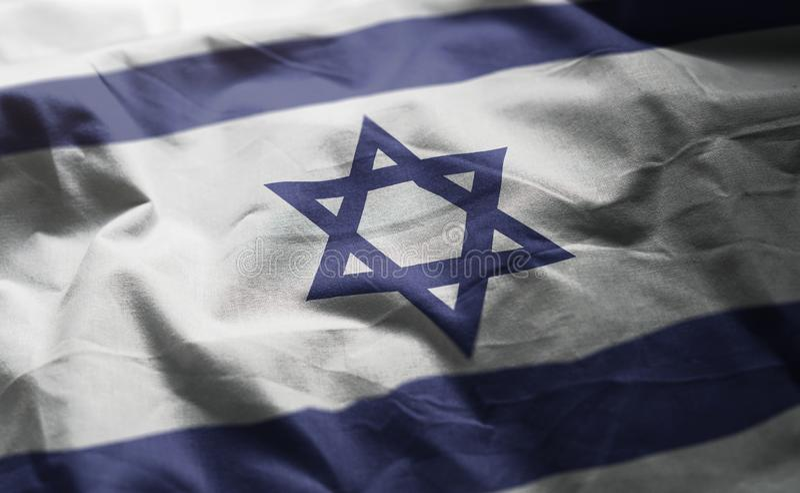Israel Flag Rumpled Close Up imagen de archivo