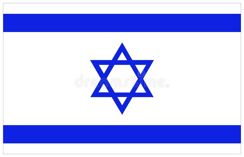 Israel flag. Vector file of Israel flag stock illustration