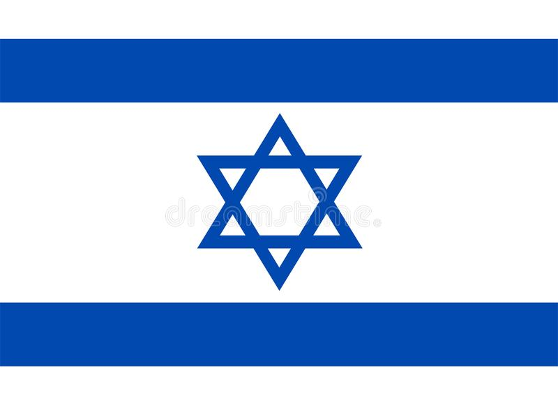 Israel flag vector.Illustration of Israel flag. Background vector illustration
