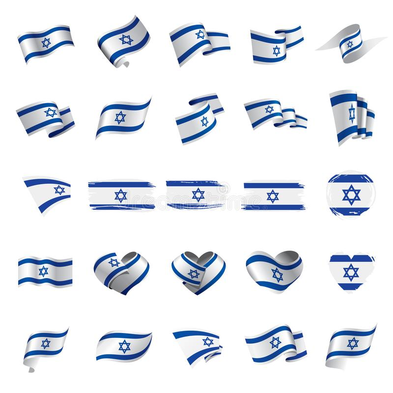 Israel flag, vector illustration. On a white background royalty free illustration