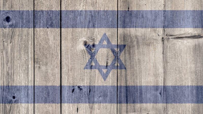 Israel Flag Wooden Fence image stock