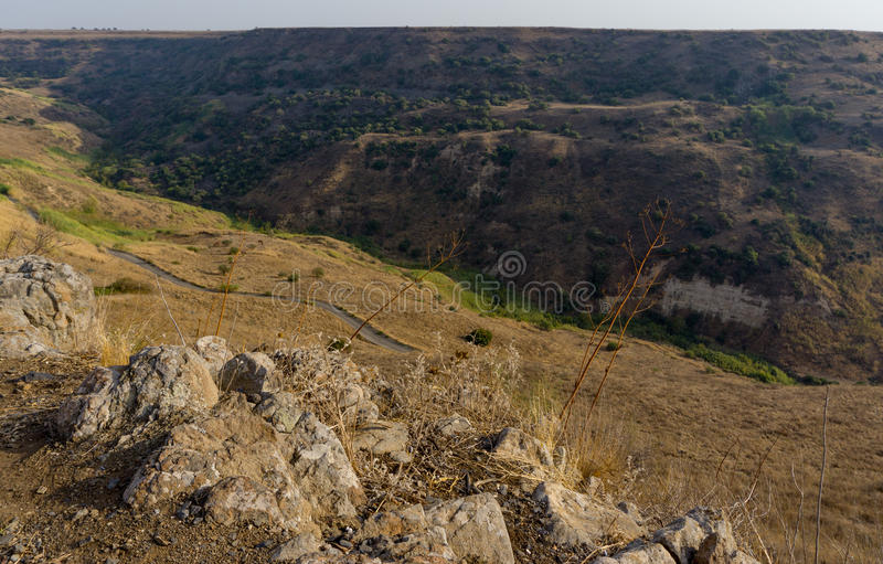 Israel Gamla Nature Reserve. The Gamla nature reserve has a rare combination, both nature and scenery and a fascinating historical human story royalty free stock photo