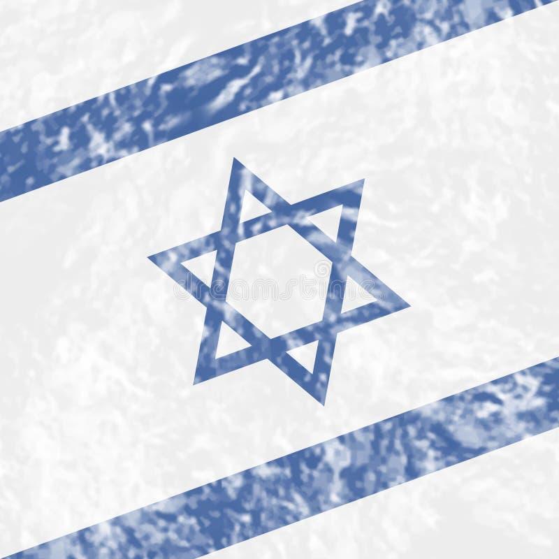Israel Grunge Shows Waving Flag e país ilustração royalty free