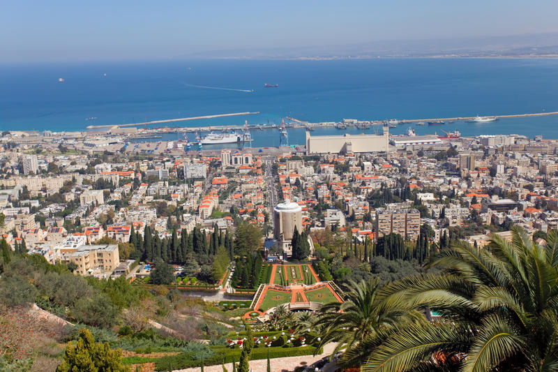 Download Israel, Haifa stock photo. Image of urban, shore, bahai - 19069850