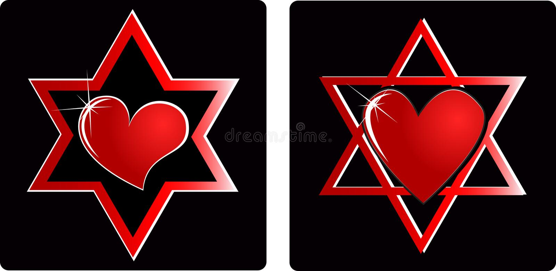 Israel heart vector illustration