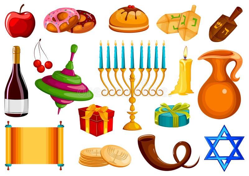Israel Holiday para el festival del fondo feliz de la celebración de Jánuca de la luz libre illustration