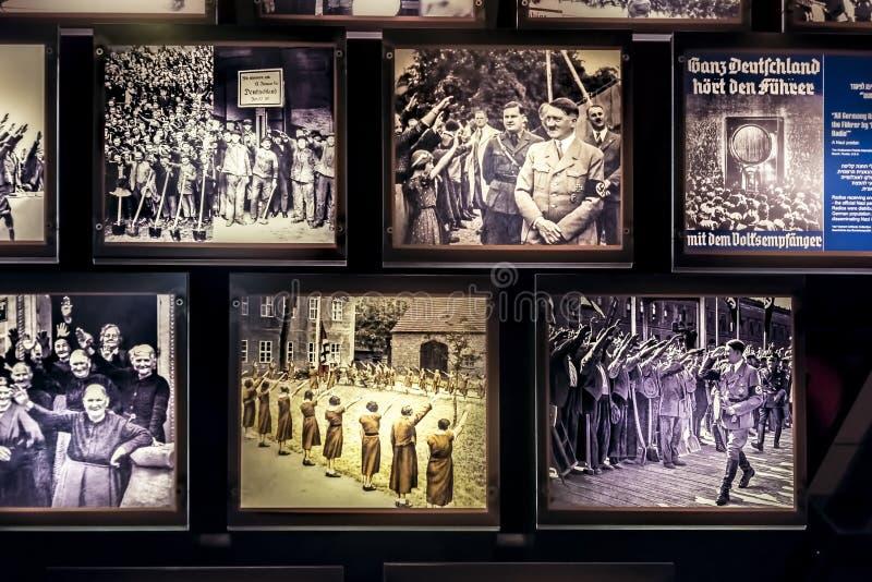 Israel, holocausto de Yad-Vassim, vista 14-08-2017 das fotos da época da ?a guerra mundial e perseguição dos judeus, como imagem de stock