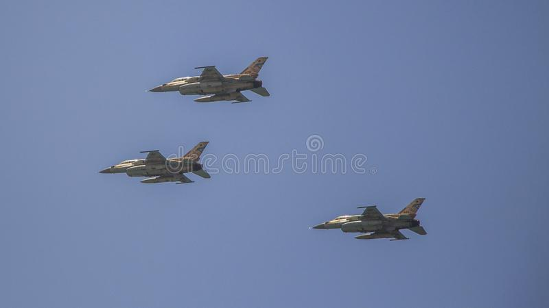 Israel Independece day- Israeli Air Force Flyover stock images