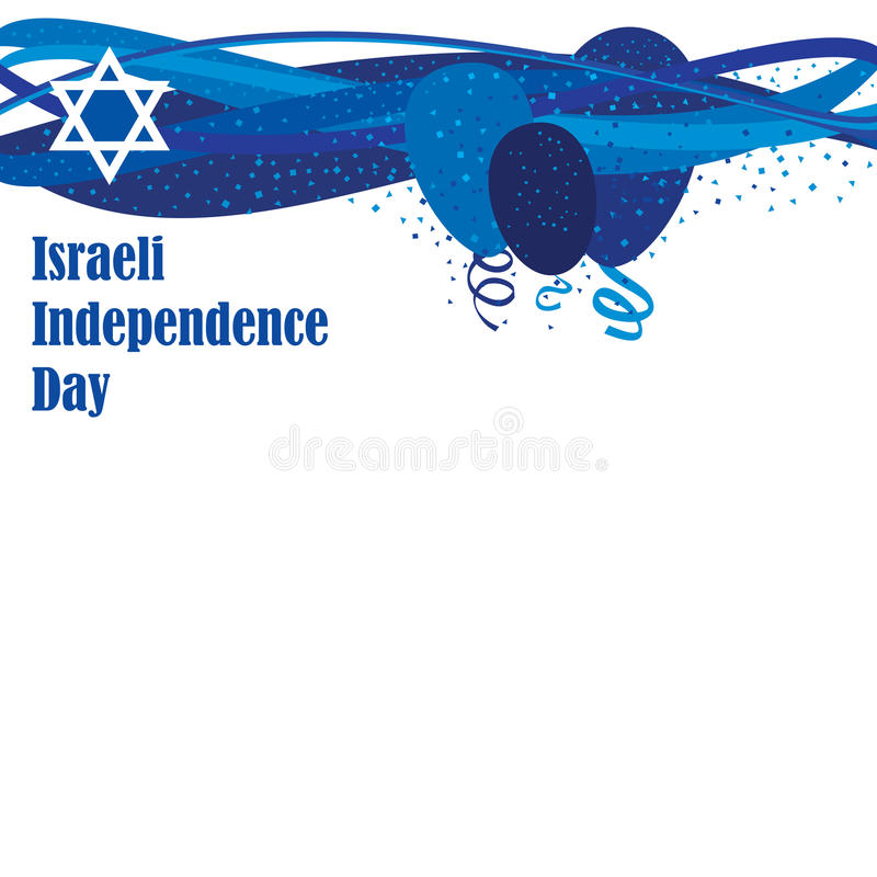 Israel Independence Day illustration stock