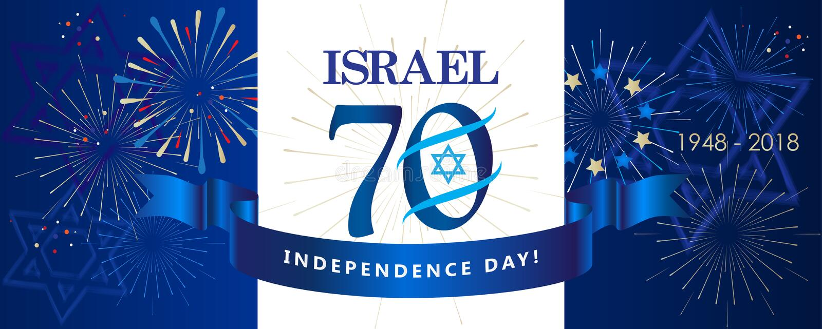 Israel 70 Independence Day royalty free illustration