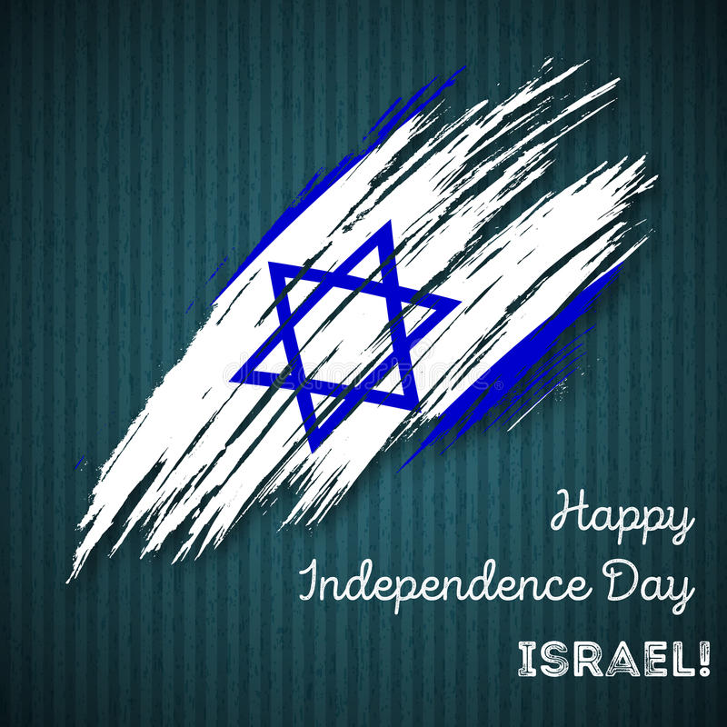 Israel Independence Day Patriotic Design vektor illustrationer
