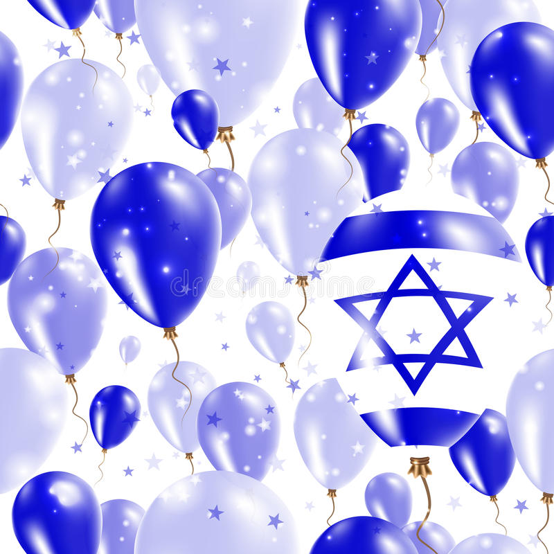 Israel Independence Day Seamless Pattern illustration stock