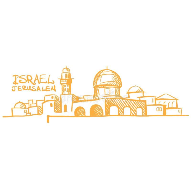 Israel Jerusalem ilustração royalty free