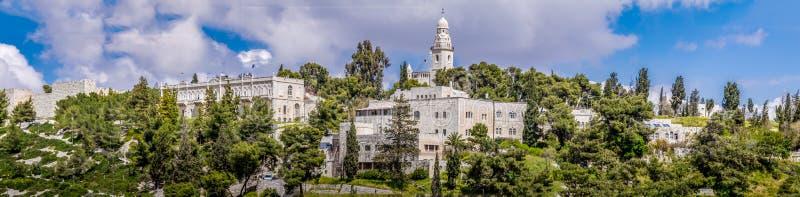 Israel, Jerusalem Dormition Abbey April 4, 2015 lizenzfreie stockbilder