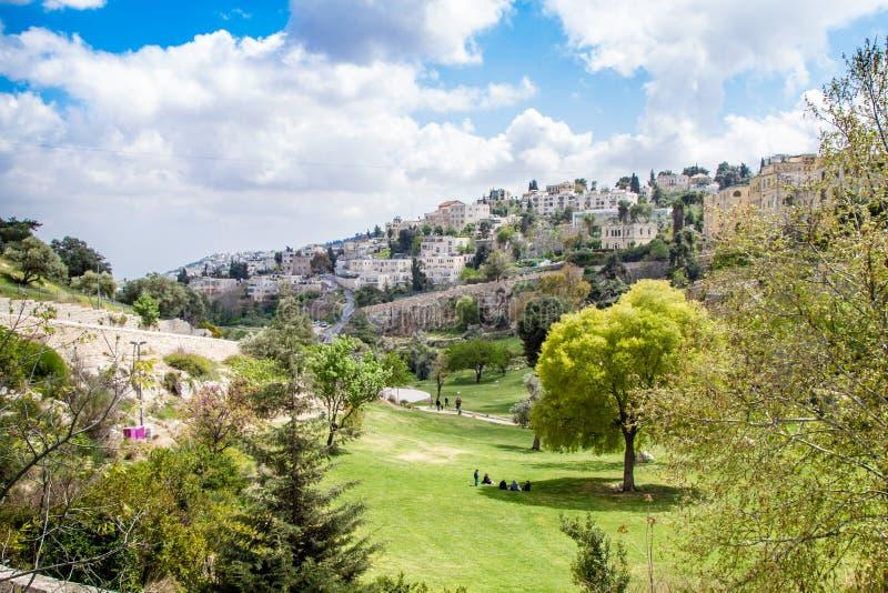 Israel Jerusalem Valley von Hinnom am 4. April 2015 stockbilder