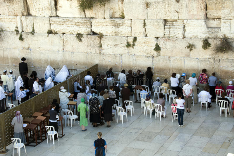 Israel Jerusalem wailing wall woman stock image