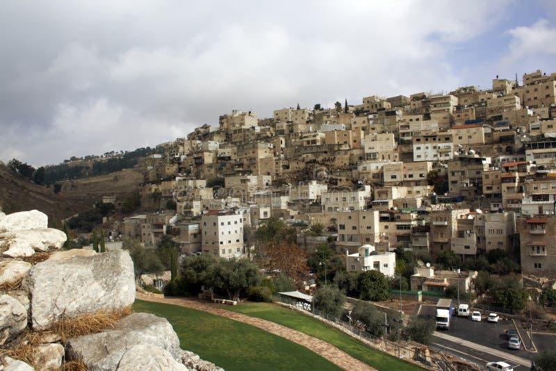 Israel-Landschaftsmarksteine Jerusalem-Ansicht der alten Stadt und des t stockbild
