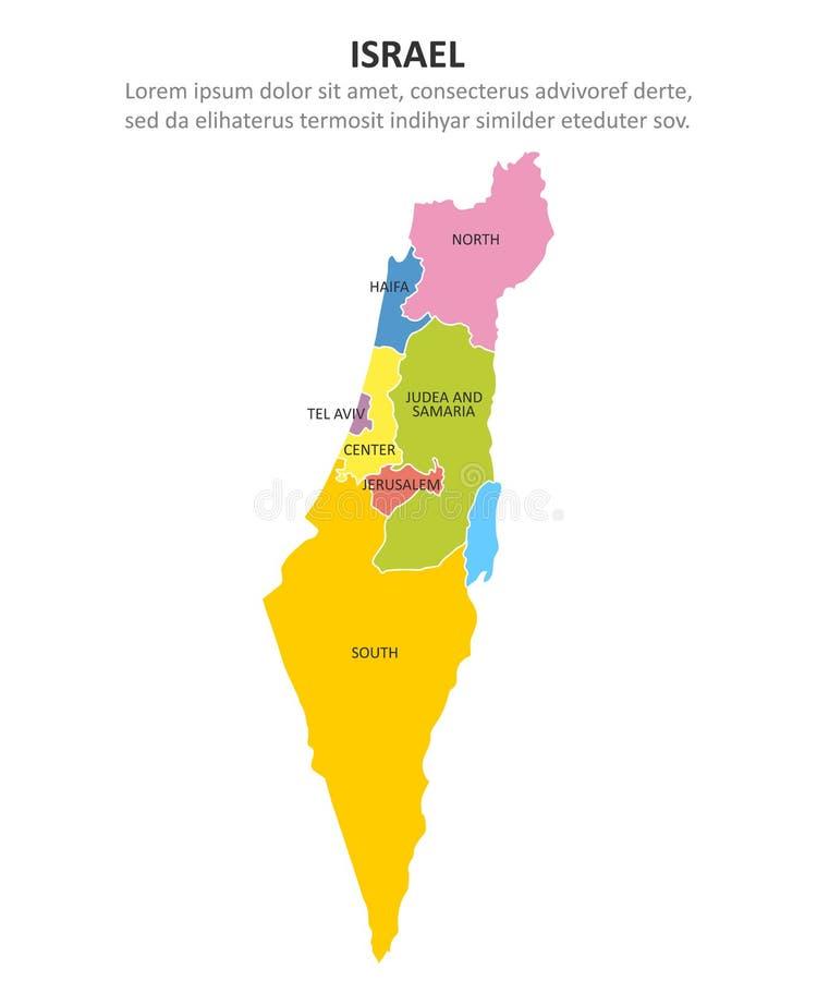 Israel m stock illustrationer