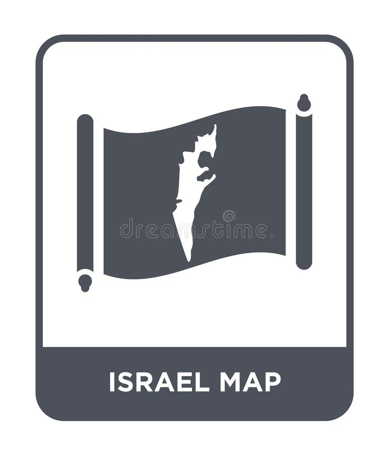 Israel map icon in trendy design style. israel map icon isolated on white background. israel map vector icon simple and modern. Flat symbol for web site, mobile vector illustration