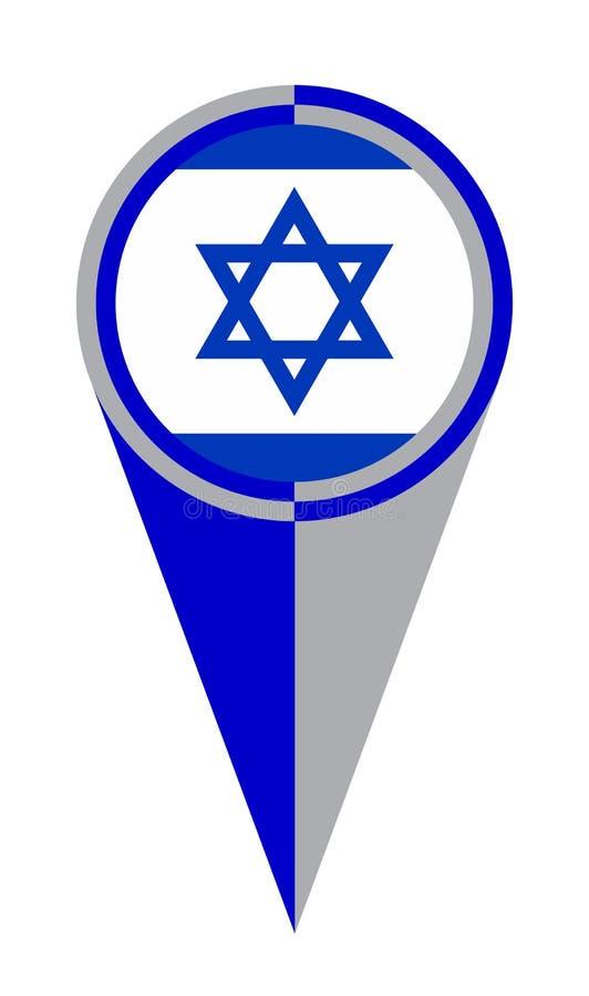 Israel Map Pointer Location Flag illustrazione di stock