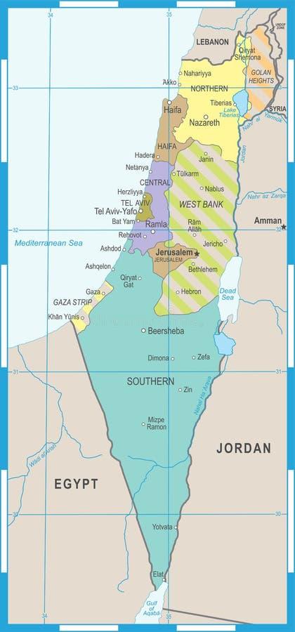 Israel Map - Vectorillustratie stock illustratie