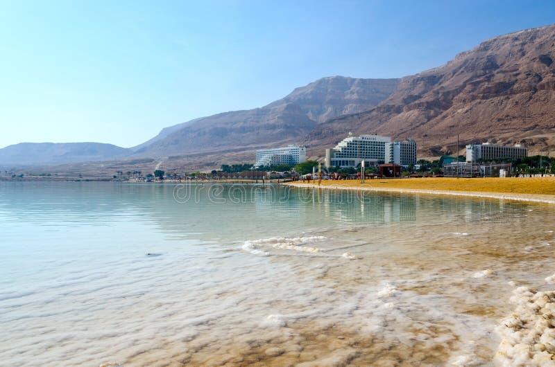 Israel, mar muerto, distrito del hotel de Ein Bokek imagen de archivo libre de regalías
