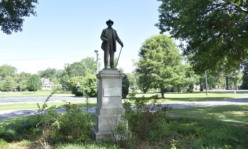 Israel A. Mark Statue at Highland Park, Meridian, Mississippi royalty free stock image