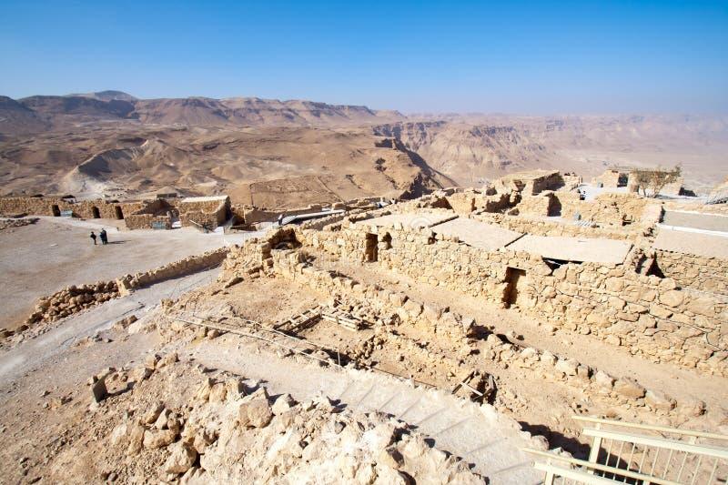 israel masada royaltyfria foton
