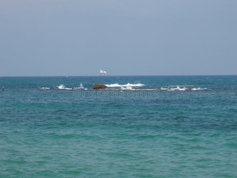 israel medelhavs- hav arkivfoton