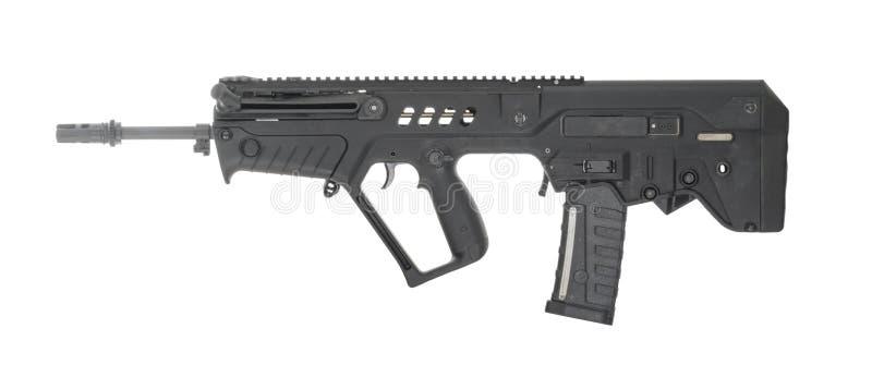 Israel Military Carbine Rifle Isolated på lämnad vit bakgrund arkivfoton