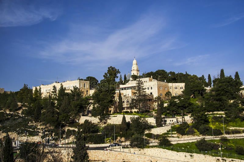 Israel, mount olives royalty free stock photo