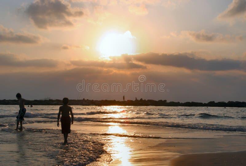 Israel na plaży zdjęcie stock