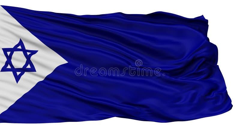Israel Naval Ensign Flag som isoleras på vit royaltyfri illustrationer