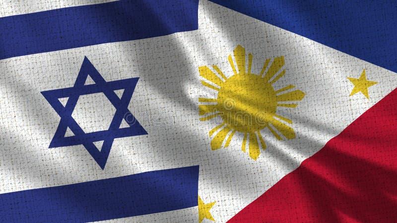 Israel och Filippinernaflagga - två flaggor tillsammans royaltyfria foton