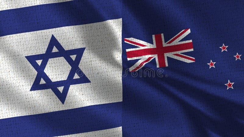 Israel och nyazeeländsk flagga - två flaggor tillsammans arkivfoton